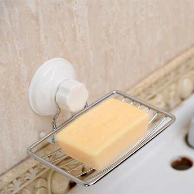 13*9*6cm Strong Suction Wall Soap Holder Dish Basket Tray Bathroom Shower Cup