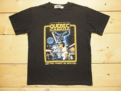 """Quebec Canada """"May the Forest Be With You"""" Star Wars ~ YOUTH 8 ~ Graphic Shirt"""