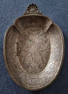 Walker and Hall Sheffield old silver dish. Antique.