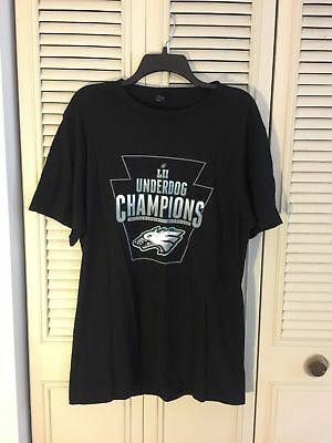 cd0e1dcb Philadelphia Eagles Underdog Champions Super Bowl Lii T-Shirt Mens Large  Black