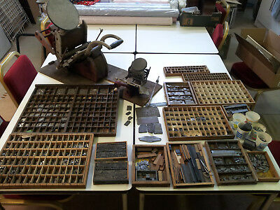 VINTAGE ADANA LETTER PRESS x 2 - Eight-Five, HS1? + load of type & extras