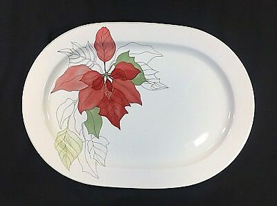 Block Spal POINSETTIA China Large Oval Platter (BSE)