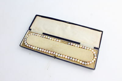 Modern 14ct Gold Clasp MULTI-COLOURED PEARL NECKLACE in Box 30g 46cm