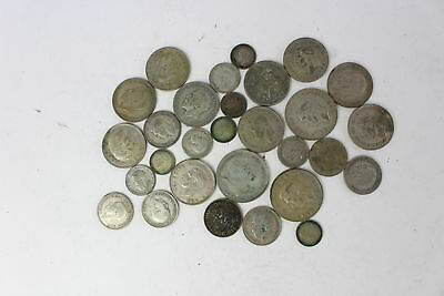 Lot of Vintage Pre 1947 GEORGE V&VI Mixed Denomination Silver Coins - 211g