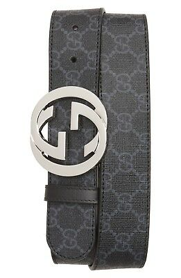 NEW AUTH GUCCI interlocking Leather Belt  110(44 US)