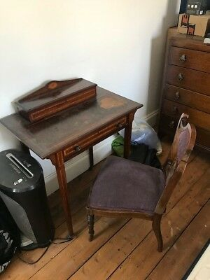 Antique ladies writing desk and chair (BR7)
