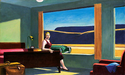 Western Motel Painting by Edward Hopper Art Reproduction