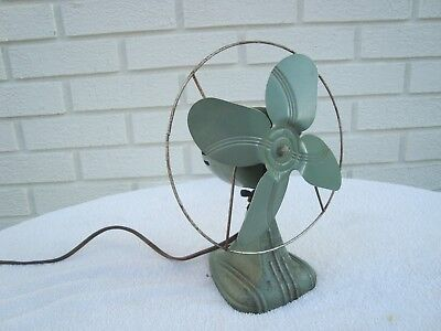 Vintage Machine Age Modern Art Deco  Electric Table or wall mount Fan military?