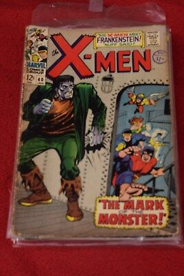 X-MEN  no 40 MARVEL COMIC JAN 1968 *