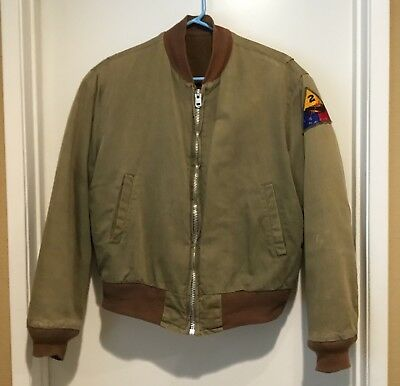 WWII TANKER JACKET 2nd ARMORED DIVISION