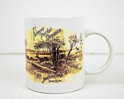 John Deere Coffee Cup Mug Ceramic Farm Tractor Advertising Gibson Collectible