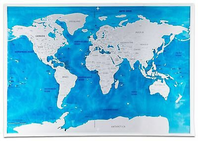 Scratch Off World Map With Us States.Scratch Off World Map Poster With Us States Perfect For Travelers