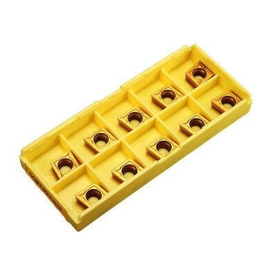 Drillpro 10pcs CCMT09T304 CCMT32.5 Carbide Insert For Lathe SCLCR Turning Tool