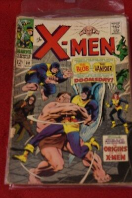 THE  X-MEN  no   38 MARVEL COMIC  may 1967 *