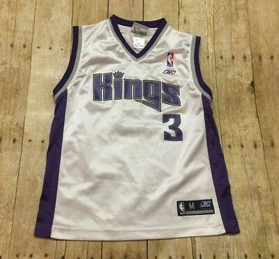 newest e9af1 8ab59 SACRAMENTO KINGS JERSEY VTG Gerald Wallace Youth Medium Womens Small NBA  White