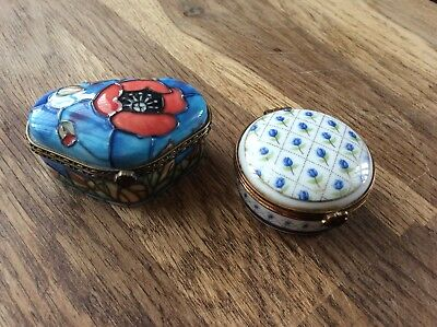 Lot Of Two, Ceramic Trinket Boxes.