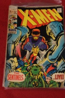 THE  X-MEN  no   57   MARVEL COMIC JUNE  1969 *