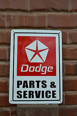 DODGE Parts & Service SIGN Challenger Dart Ram Charger Hemi Garage Sign FreeShip