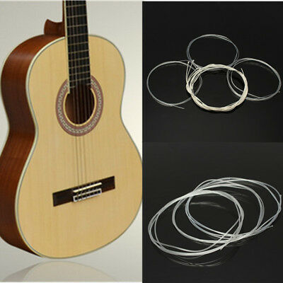 6pcs Nylon String Silver Strings Gauge Set For Classical Acoustic Guitar