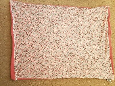 Mothercare Pink Cable Knit Blanket For A Pram Or Moses Basket 70 X 90cm