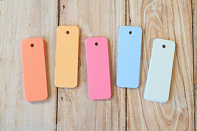 Long Rectangle Tags colourful Sorbet theme skinny rounded gift tag craft labels