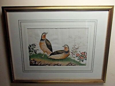 SUPERB ANTIQUE CHINESE PITH RICE PAPER WATER COLOUR PAINTING CIRCA 19th CENTURY