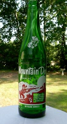 MINT Condition 1965 MOUNTAIN DEW Bottle, Hickory, NC,N.C,,North Carolina