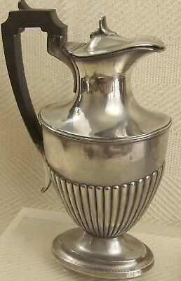 "Vintage Stylish Silver Plated Claret Jug Wine Pitcher 10"" Great Condition ANOID?"