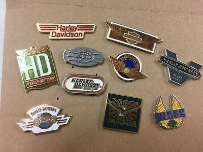 Harley-Davidson Lot of 10 jacket hat pins NEW with tags