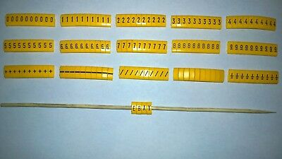 150 - PARTEX PK+2/POK10 Cable or Pipe Markers (Black on Yellow Number & Symbols)