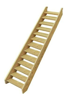 EziStep Pine Wooden Timber Stair 13 Step Kit External Outside