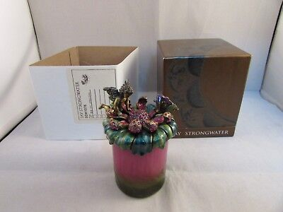 Jay Strongwater Faun Cupid Angel Candle Topper Perfect With Boxes & Candle