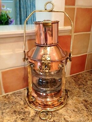 Ships Anchor Light. brass. copper Lamp. marine nautical