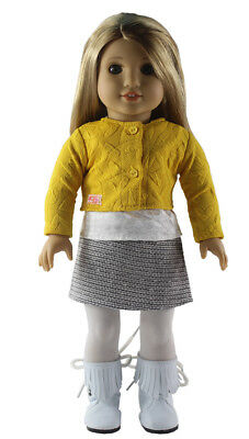 "Doll Clothes 18"" Skirt Top Blouse Sweater Leggings Fits American Girl Dolls"