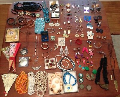 Lot of Vintage Jewelry and Accessories, 1960s-1990s