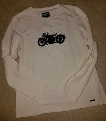 NEW Barbour Steve McQueen Motorcycle Top T-shirt Long Sleeve L XL Racing MotoGP