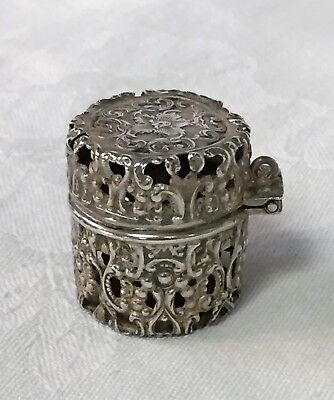 Antique Sterling Silver THIMBLE HOLDER Pendant Chatelaine