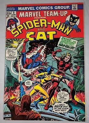 Marvel Team-Up #8 (1974, Marvel) [FN] Spider-Man and The Cat! Cool!