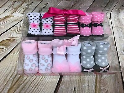 Luvable Friends SET Of TWO 3-Pack Little Shoe Socks Gift Sets Baby gear
