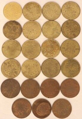 10 Satang Thailand 2500 (1957) Coin Lot Of 23 World Foreign Combine Shipping B97