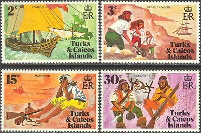 1971 Turks & Caicos Is. #236-9 Mint NH Set of 4 Pirating in the Carribbean