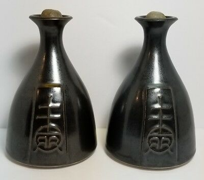 Vintage Signed Roycroft Arts & Crafts Mission Style Oil Lamp Lot Of 2