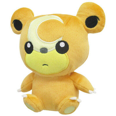 "Sanei Pokemon Sun Moon All Star Collection PP101 Teddiursa 6"" Stuffed Plush Doll"