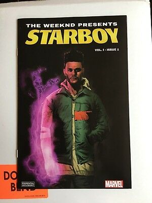 Marvel The Weeknd Starboy Vol 1 #1 Comic Book Rare Variant Cover Limited Black