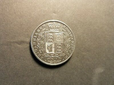 1849 early Victorian silver half crown