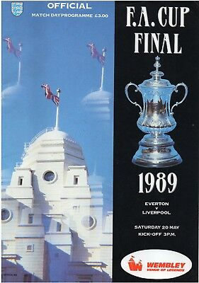 1988 - 1989 FA Cup Final EVERTON V LIVERPOOL Programme