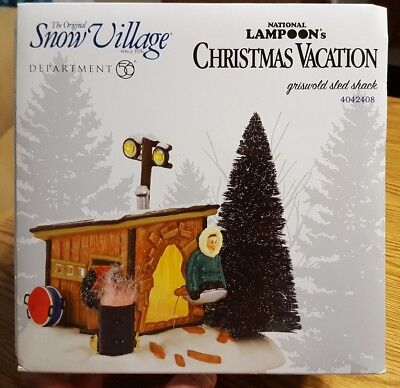 Department 56 National Lampoon Christmas Vacation Griswold Sled Shack 4042408