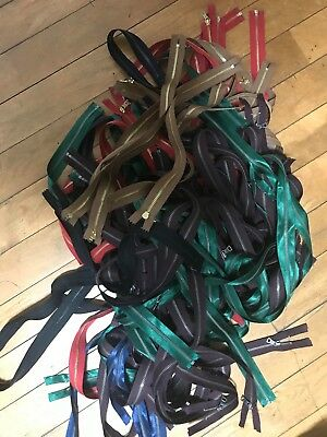Lot of 100 Solid Brass High Quality Heavy-Duty Chaps Separating Metal Zippers