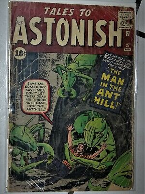 """1962 Tales to Astonish #27 """"Man In The Ant Hill"""" First App ANT-MAN Kirby Ditko"""