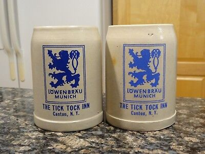 Lowenbrau The Tick Tock Inn Beer Mug Stein Germany St. Lawrence University SUNY